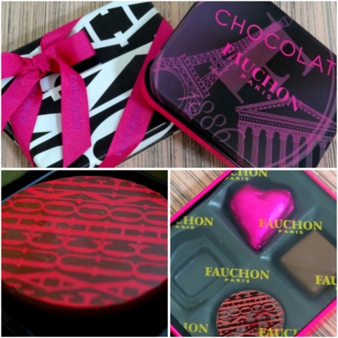 FAUCHON - latinha de chocolates - PARIS