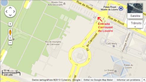 Mapa Carrousel du Louvre
