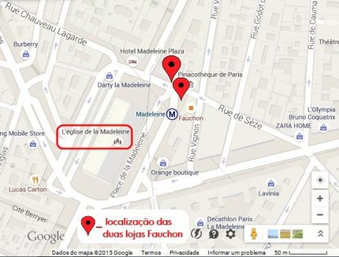Mapa Fauchon - PARIS