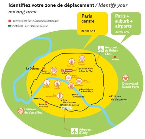 Mapa - Zonas - ParisVisit