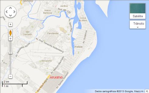 Mapa Aruana