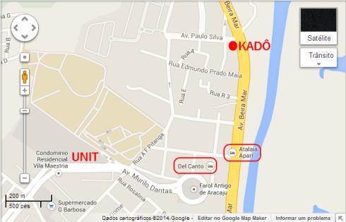 Kadô- Mapa Hotéis