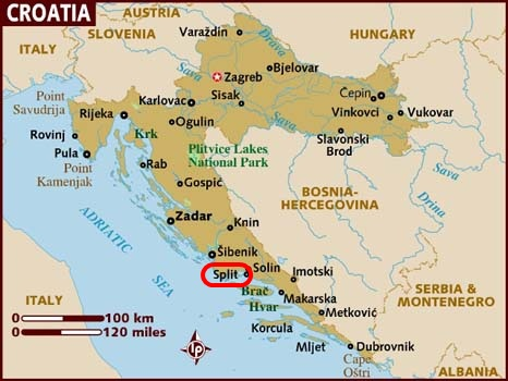 map_of_croatia - Split