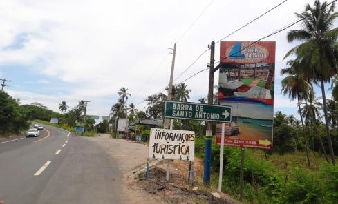 Entrada para Barra do Santo Antônio - AL-101 NORTE