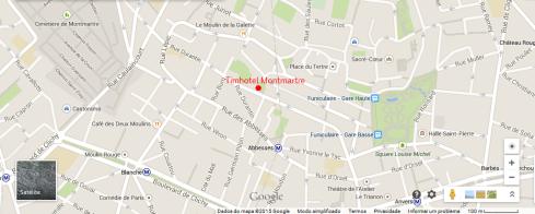 Mapa - Timhotel Montmartre