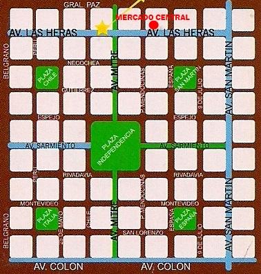 Mapa Mercado Central - Mendoza - Argentina