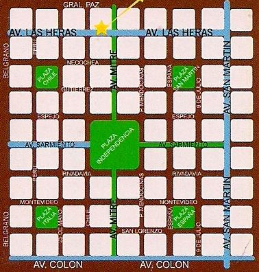Mapa Praças Mendoza - Argentina