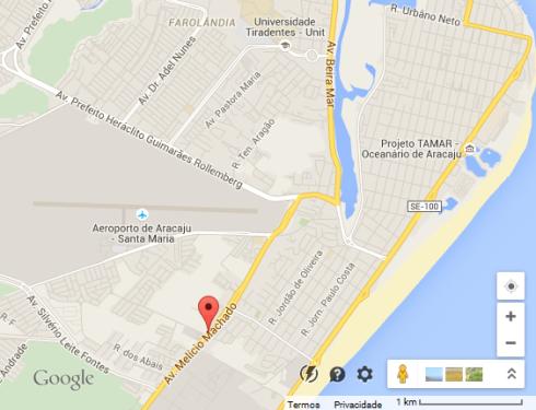 Mapa Google - Av. Melício Machado - ARACAJU