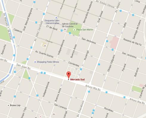 Mapa Mercado Sud