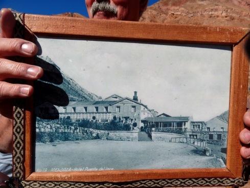 Foto do antigo Hotel Puente del Inca - ARGENTINA