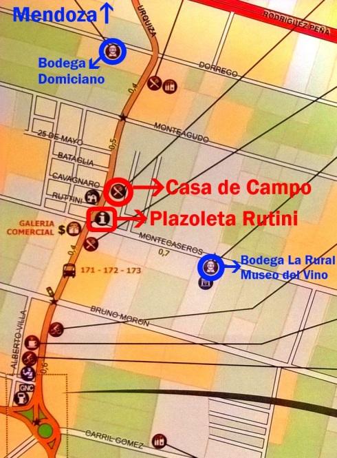 Mapa Coquimbito - MAIPÚ- MENDOZA