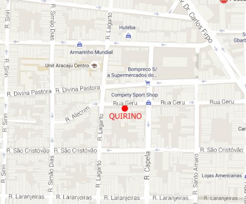 Mapa Seu Quirino - ARACAJU - Google Maps