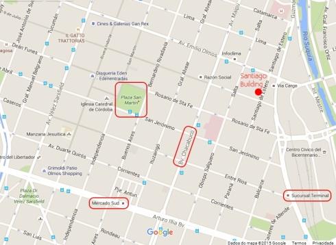 Mapa - Santiago Building - Córdoba