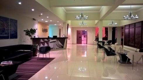 Recepção do Santiago Hotel - Cordoba.Argentina