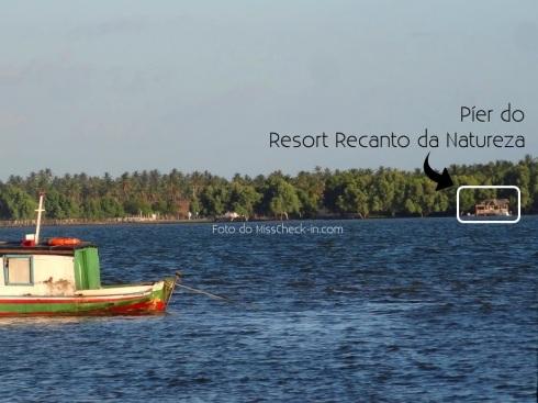 Resort Recanto da Natureza visto do Povoado Pontal - MANGUE SECO.BAHIA