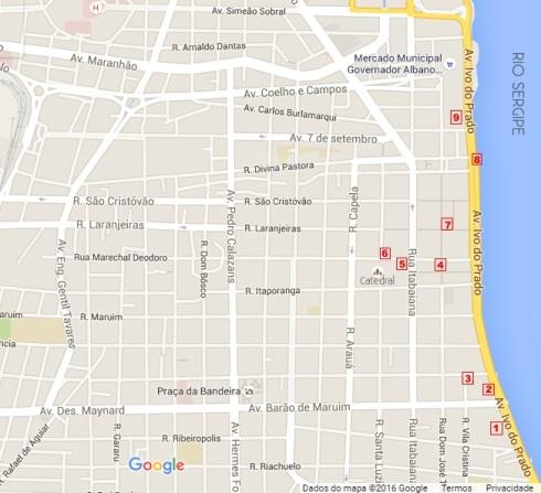 Mapa Centro - ARACAJU