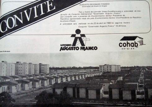 Convite Inauguração do Augusto Franco - 1982